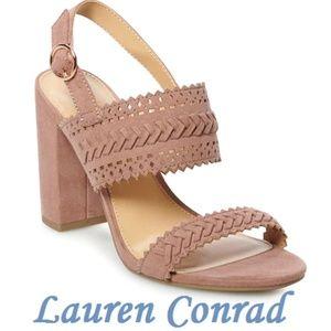 LAUREN CONRAD Block Heel Slingback Shoes BNWT